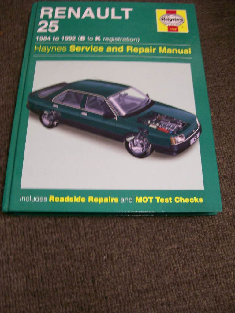 RENAULT 25 1982 TO 1992 HAYNES REPAIR MANUAL