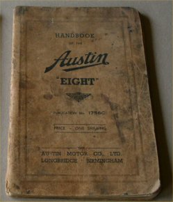 AUSTIN 8 EIGHT 1939  OWNERS MANUAL