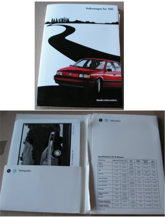 VW 1991 PRESS RELEASE GOLF GTI FOX VANAGON