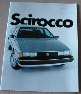 VW SCIROCCO 1982 SALES BROCHURE