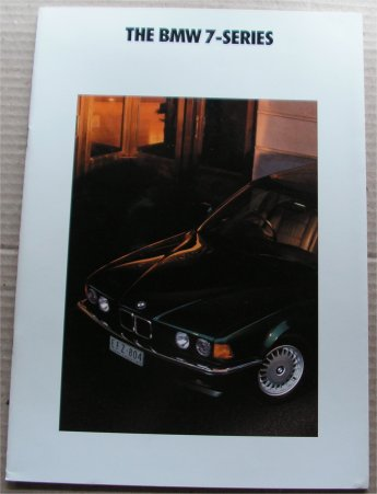 BMW 1990 730i 735i SALES BROCHURE