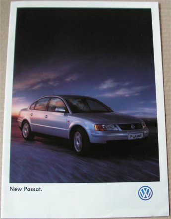 VW PASSAT 1997 SALES BROCHURE