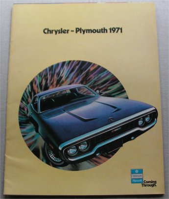 PLYMOUTH 1971 BROCHURE SATELLITE ROAD RUNNER BARRA