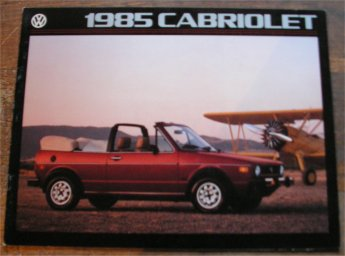 VW GOLF 1985 CABRIOLET SALES BROCHURE
