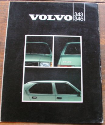VOLVO 343 345 1982 SALES BROCHURE