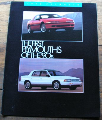 PLYMOUTH 1990 SALES BROCHURE LASER RS TURBO