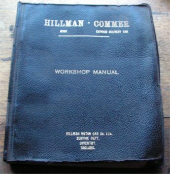 HILLMAN MINX MK 1 2 3 4 5 6 7 COMMER EXPRESS manual