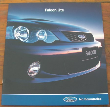 BA FORD FALCON 2002 XR6 XR8 UTE NEW OLD STOCK SALES BROCHURE