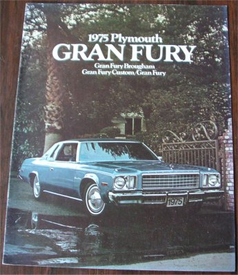 PLYMOUTH GRAN FURY 1975 SALES BROCHURE