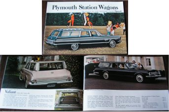 PLYMOUTH 1965 WAGONS SALES BROCHURE VALIANT FURY