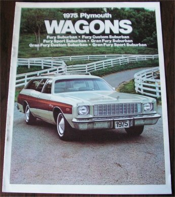 PLYMOUTH 1975 WAGONS SALES BROCHURE
