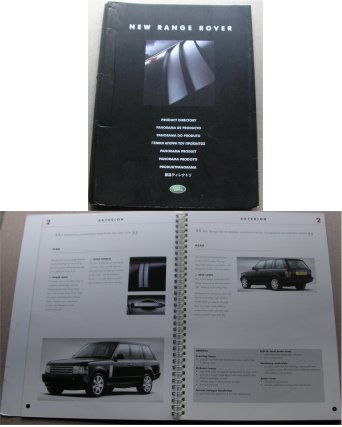 RANGE ROVER 2001 PRODUCT DIRECTORY PRESS INFO