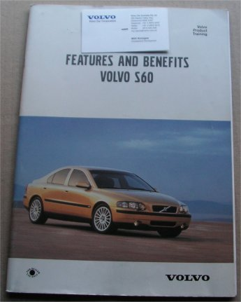VOLVO S60 2000 PRODUCT TRAINING BROCHURE