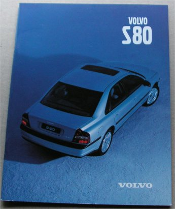 VOLVO S80 1998 SALES BROCHURE