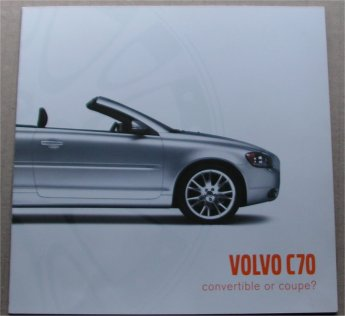 VOLVO C70 SALES BROCHURE COUPE OR CONVERTIBLE T5