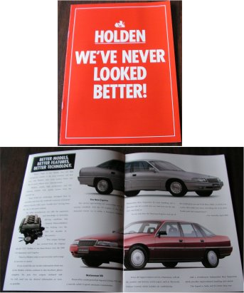 HOLDEN 1990 SALES BROCHURE VQ STATESMAN VN VG COMMODORE S SS
