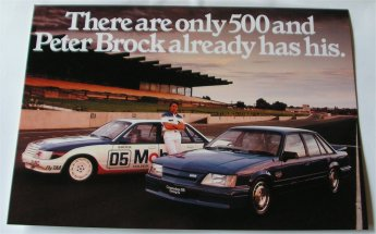 HDT COMMODORE 1985 VK SS GROUP A BROCHURE BROCK