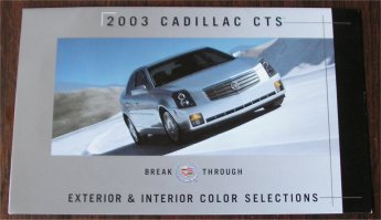 CADILLAC CTS 2003 INTERIOR EXTERIOR COLOURS