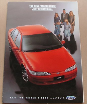 EF FORD FALCON 1994 1995 EF SALES BROCHURE