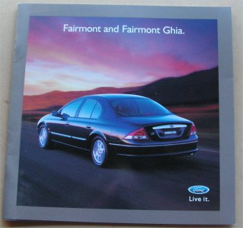 AU FORD 2000 AU FAIRMONT & GHIA NOS SALES BROCHURE