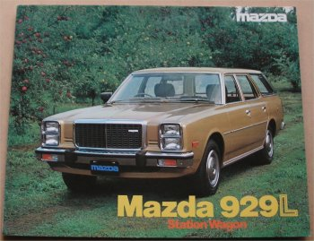 MAZDA 929L STATION WAGON SALES BROCHURE