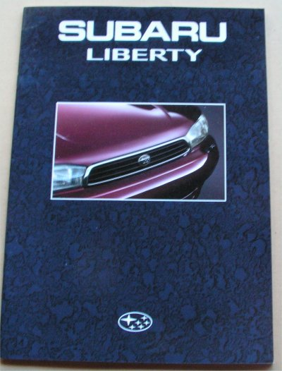 SUBARU LIBERTY 1994 SALES BROCHURE