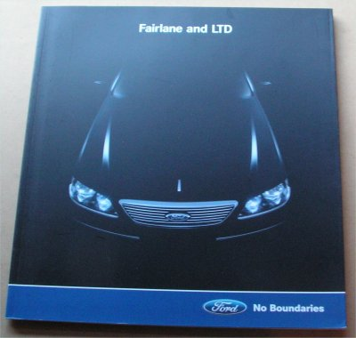 BA FORD FAIRLANE AND LTD 2003 BA NOS SALES BROCHURE