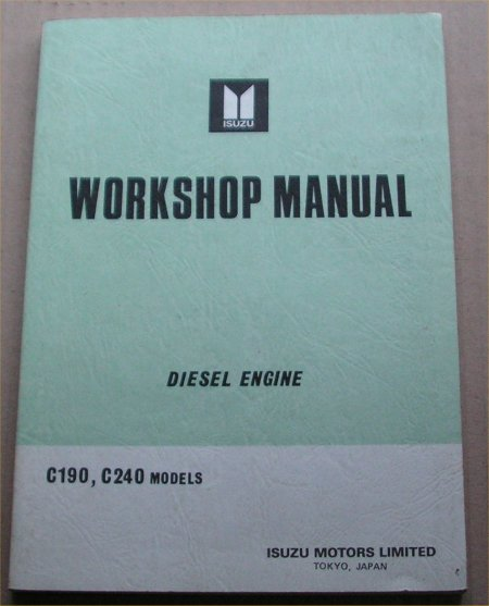 ISUZU DIESEL C190 C240 ENGINE MANUAL RODEO LUV
