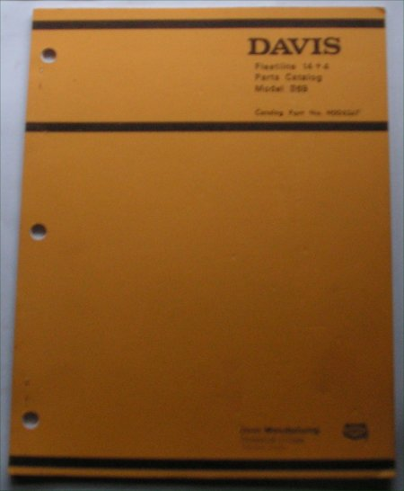 DAVIS FLEETLINE 14 + 4 S69 PARTS CATALOG