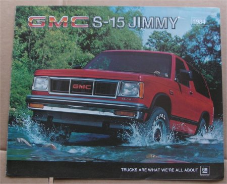 GMC 1984 JIMMY S-15 S15 SALES BROCHURE