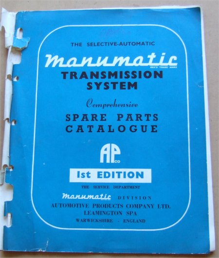 MANUMATIC TRANSMISSION PARTS BK WOLSELEY MORRIS AU