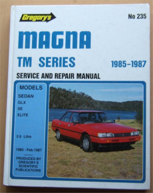 MITSUBISHI MAGNA 1985 1986 1987 TM REPAIR MANUAL