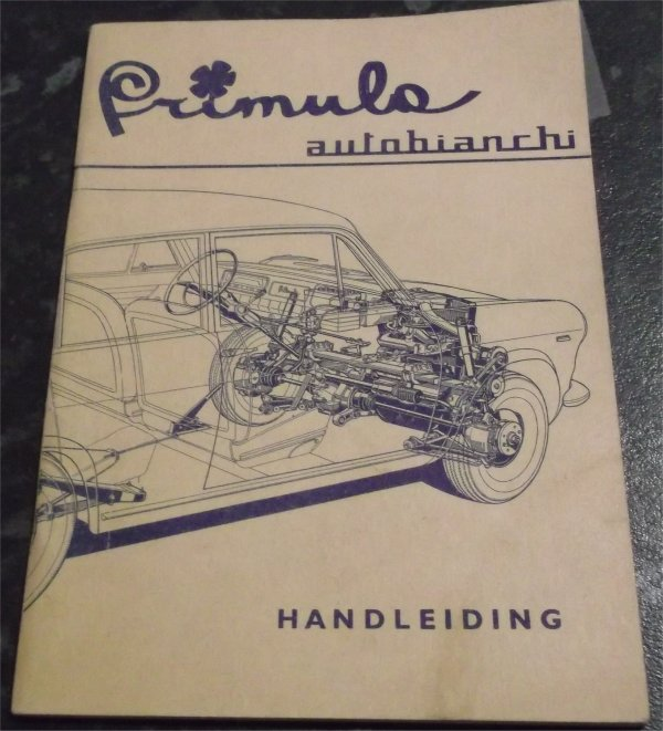 AUTOBIANCHI PRIMULA 1965 OWNERS MANUAL GERMAN LANG