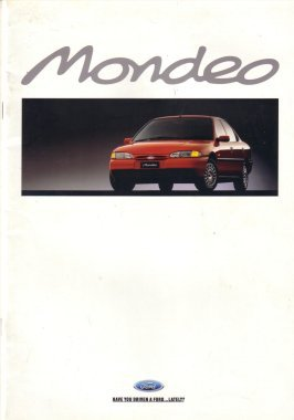 FORD MONDEO 1995 HA SALES BROCHURE AUSTRALIA