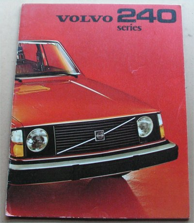 VOLVO 240 1975 SALES BROCHURE 244 245