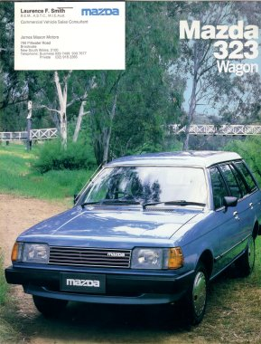 MAZDA 323 1983 1984 1985 WAGON SALES BROCHURE