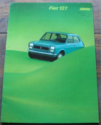FIAT 127 1974 SALES BROCHURE FRENCH LANGUAGE
