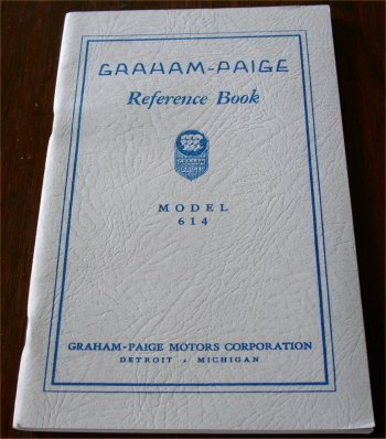 GRAHAM PAIGE 614 REFERENCE BOOK