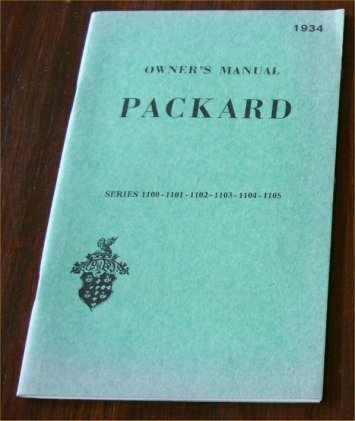 PACKARD 1934 OWNERS MANUAL
