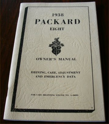 PACKARD 1938 EIGHT OWNERS MANUAL