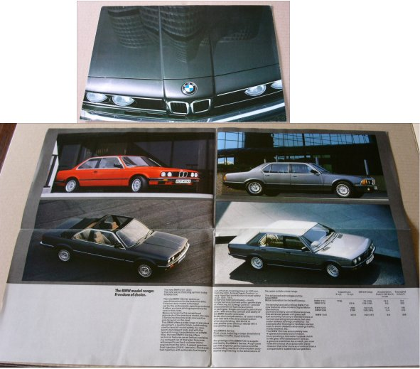 BMW 1983 318i 323i 520i 528i 735i SALES BROCHURE