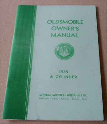 OLDSMOBILE 1935 OWNERS MANUAL 6 CYLINDER