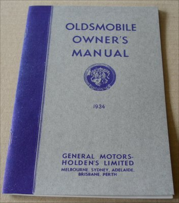 OLDSMOBILE 1934 OWNERS MANUAL