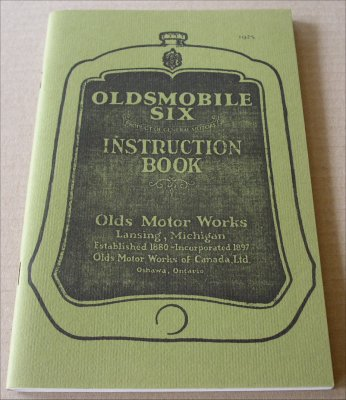 OLDSMOBILE 1925 INSTRUCTION BOOK CANADA