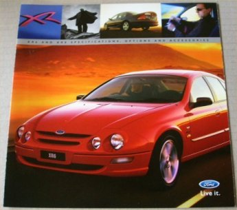 AU FORD FALCON 1998 AU XR6 XR8 OPTIONS ACCESSORIES BROCHURE