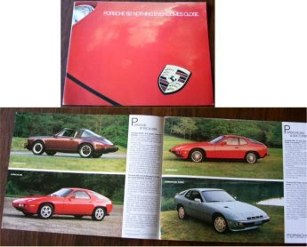 PORSCHE 1982 911SC 924 AND TURBO 928 SALES BROCHUR