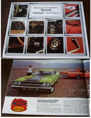 PLYMOUTH 1970 BARRACUDA GTX VALIANT DUSTER BROCHUR