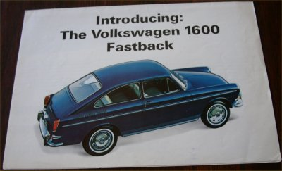 VW 1965 TYPE 3 1600  FASTBACK BROCHURE CANADA