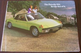 PORSCHE 914 1975 AROUND SALES BROCHURE