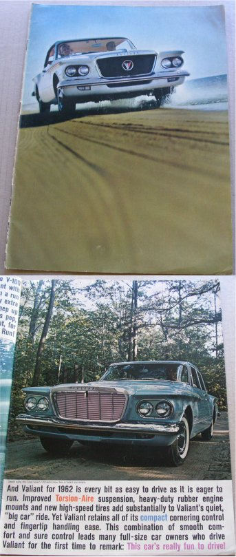 PLYMOUTH VALIANT 1961 SALES BROCHURE LIKE VALIANT
